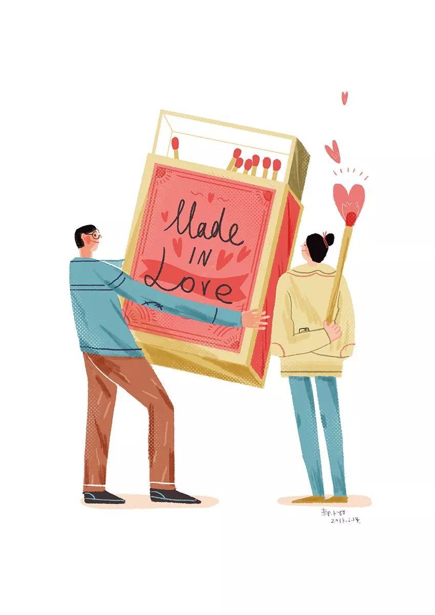 甜蜜浪漫!设计师的情人节插画作品