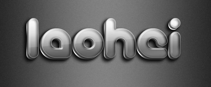 PS打造晶莹剔透灰色立体橡胶文字