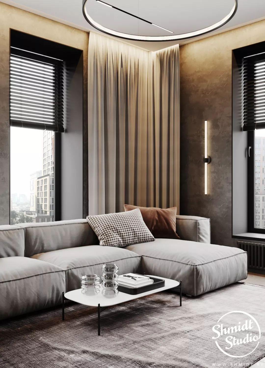 优雅时尚的高级灰 莫斯科轻奢质感住宅