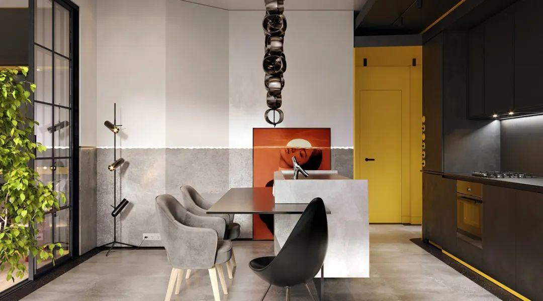 深灰中的一抹亮色 打造个性活力住宅空间