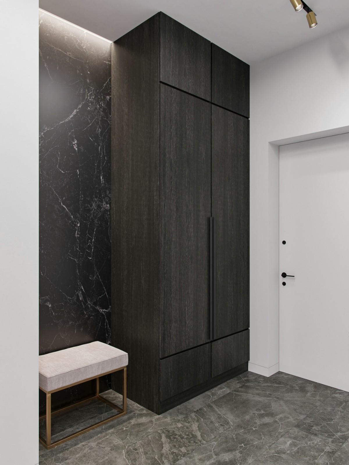 黑白灰风格精致80平公寓设计