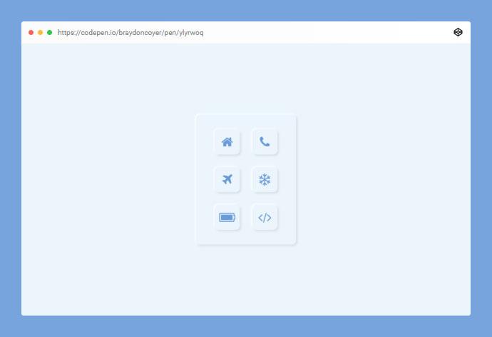 25个CSS Neumorphism新拟物化风格UI设计