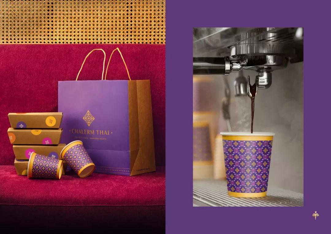 充满泰国风情 泰式餐厅Chalerm Thai品牌VI设计