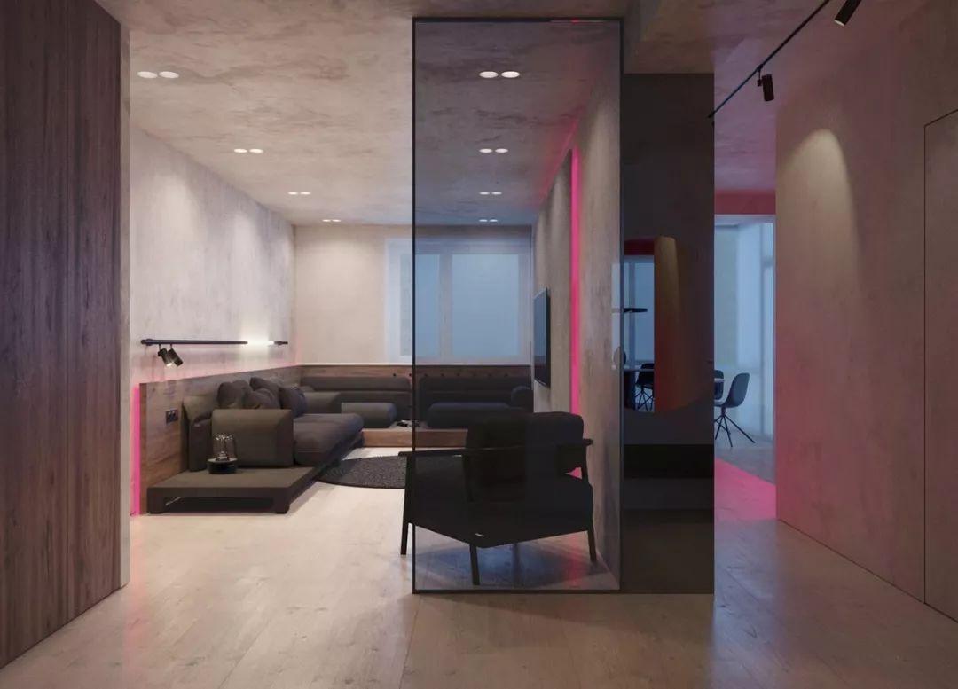 现代灰色极简风格Pastel Violet公寓设计