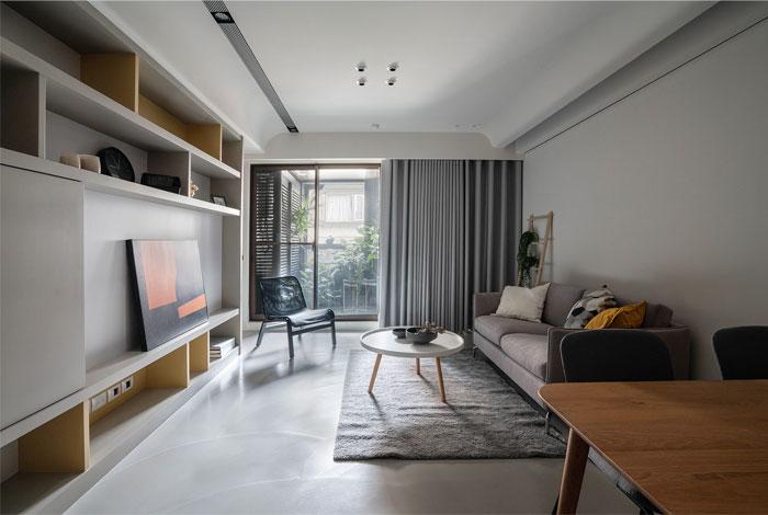 轻松温暖的居住空间 台北单身女士公寓设计