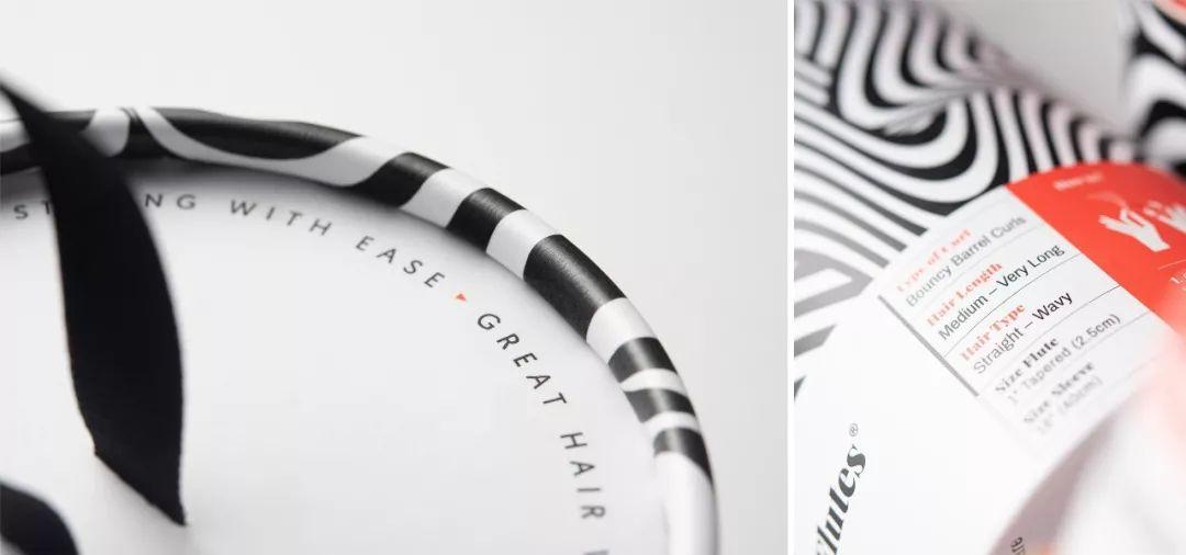 黑白条纹 BUKLI卷发器包装