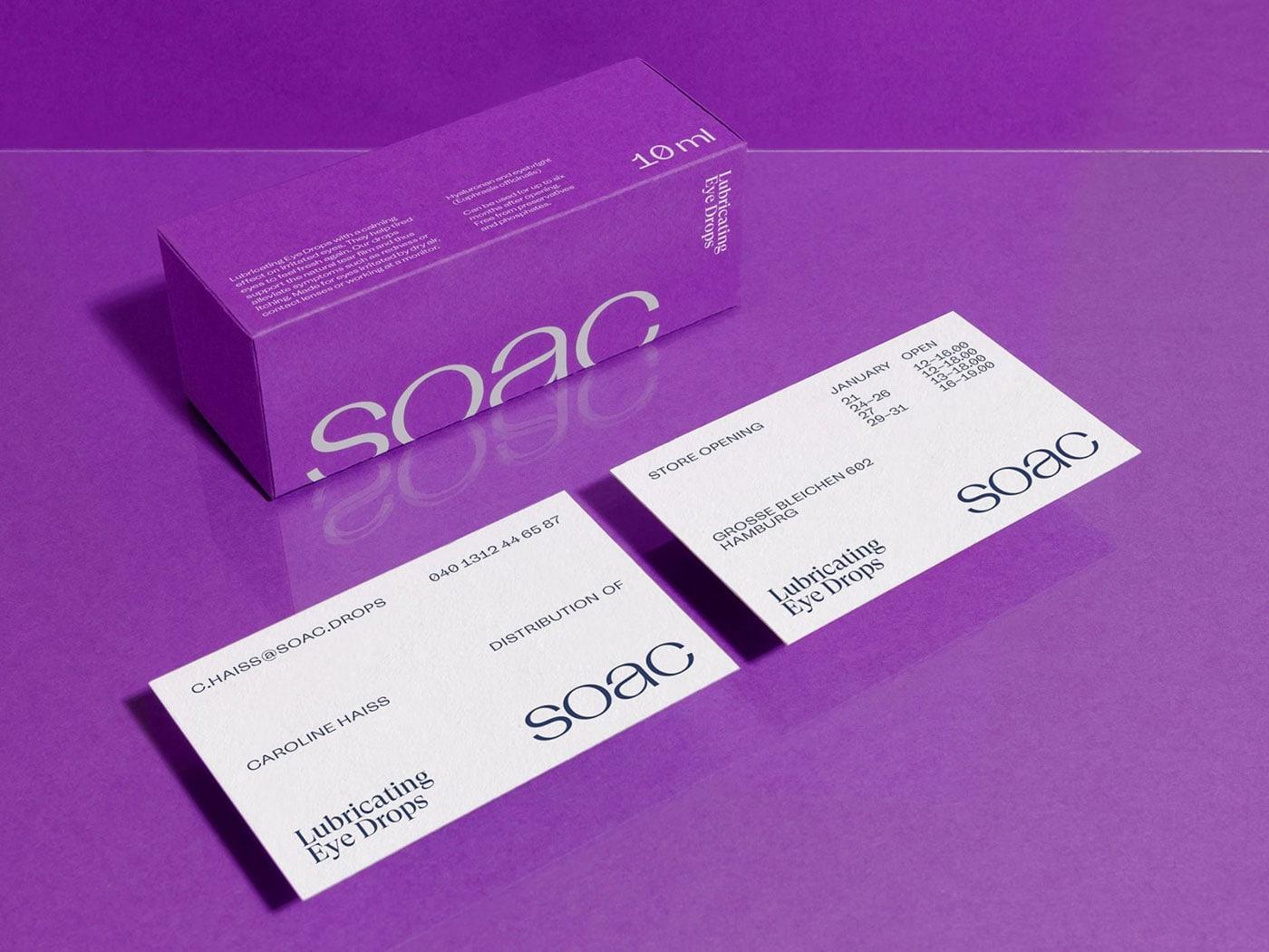 极简 纯色:SOAC眼药水包装