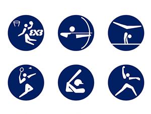 首创!东京奥运会运动项目动态图标发布