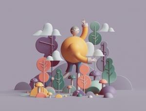 抽象而迷人的视觉体验:Peter Tarka 3D艺术作品