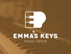 标志设计元素应用实例:黑白琴键