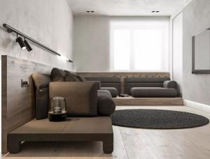 现代灰色极简风格Pastel Violet公寓w88手机官网平台首页