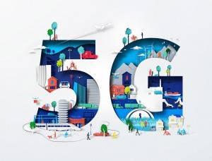 Eiko Ojala剪纸风格的NOKIA 5G主题插画作品
