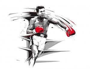 40张精彩的拳击主题插画作品
