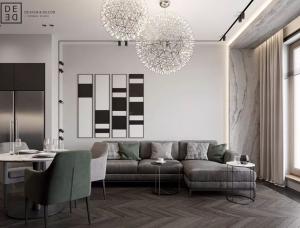 富有质感的俄罗斯现代公寓设计