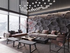 日式与工业风的融合!挪威山坡豪华住宅