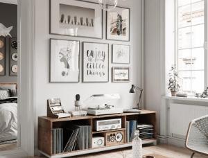 時尚的單色風格和古典裝飾元素:3間舒適