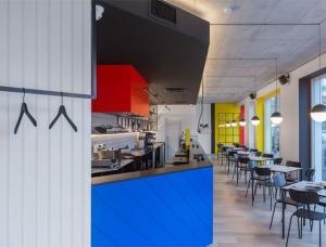 风格派(De Stijl)的LOLA咖啡馆空间设计