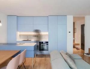 优雅柔美的蓝,62平米淑女主题公寓