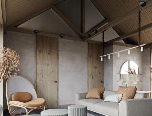 质朴宁静的Wabi-sabi侘寂风住宅设计