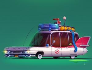 Servin Seidaliev酷炫的复古风格搞怪汽车插画