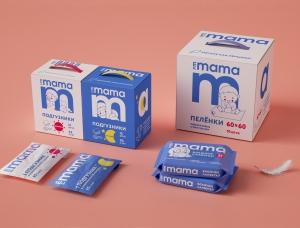I'm Mama婴儿卫生用品(尿布和湿巾)包装设计