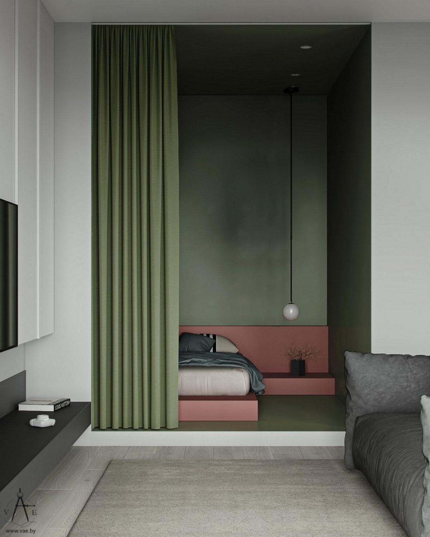 红绿混搭时尚范精致公寓