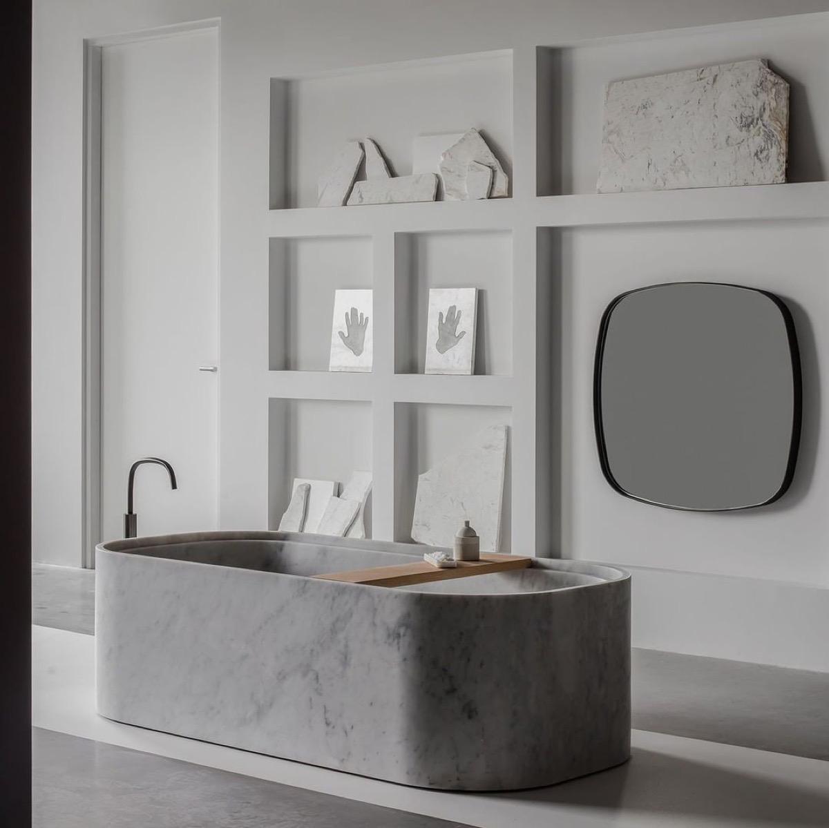 40个优雅自然风的浴室设计