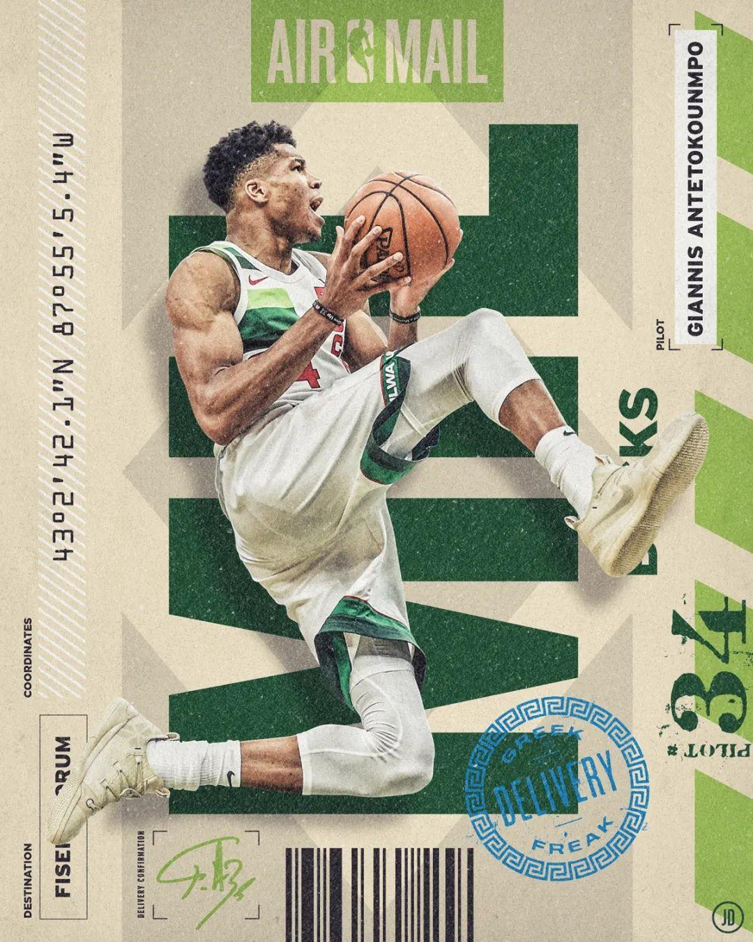 复古风的NBA巨星海报设计