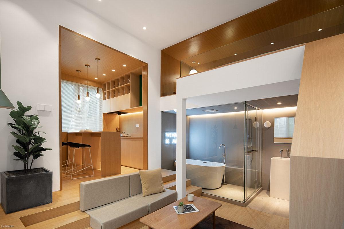 温暖的木质元素小公寓,温馨舒适又惬意
