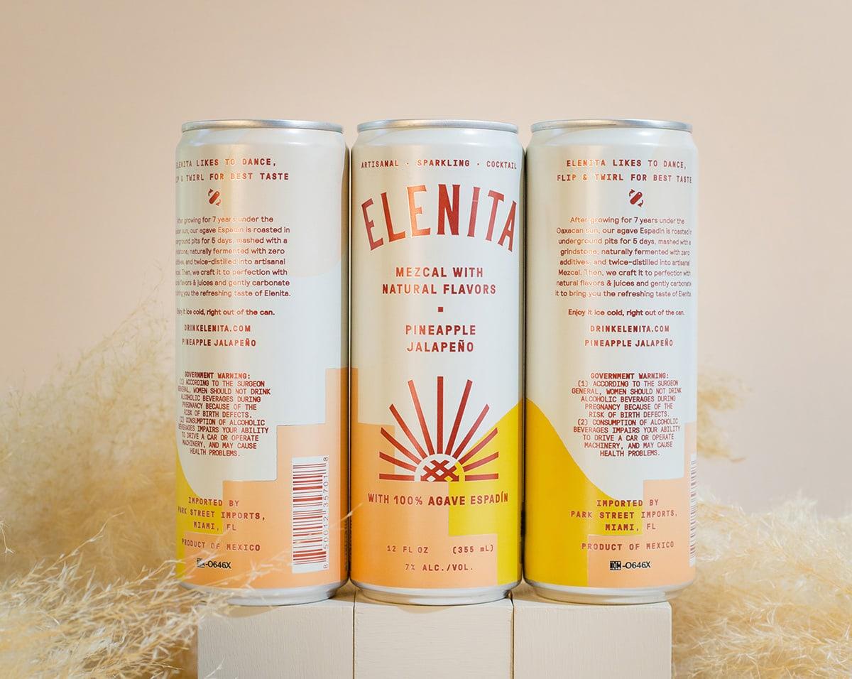 阳光 温暖,Elenita Mezcal饮料包装