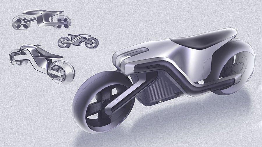 超酷未来派!Joseph Robinson的Z形电动摩托车