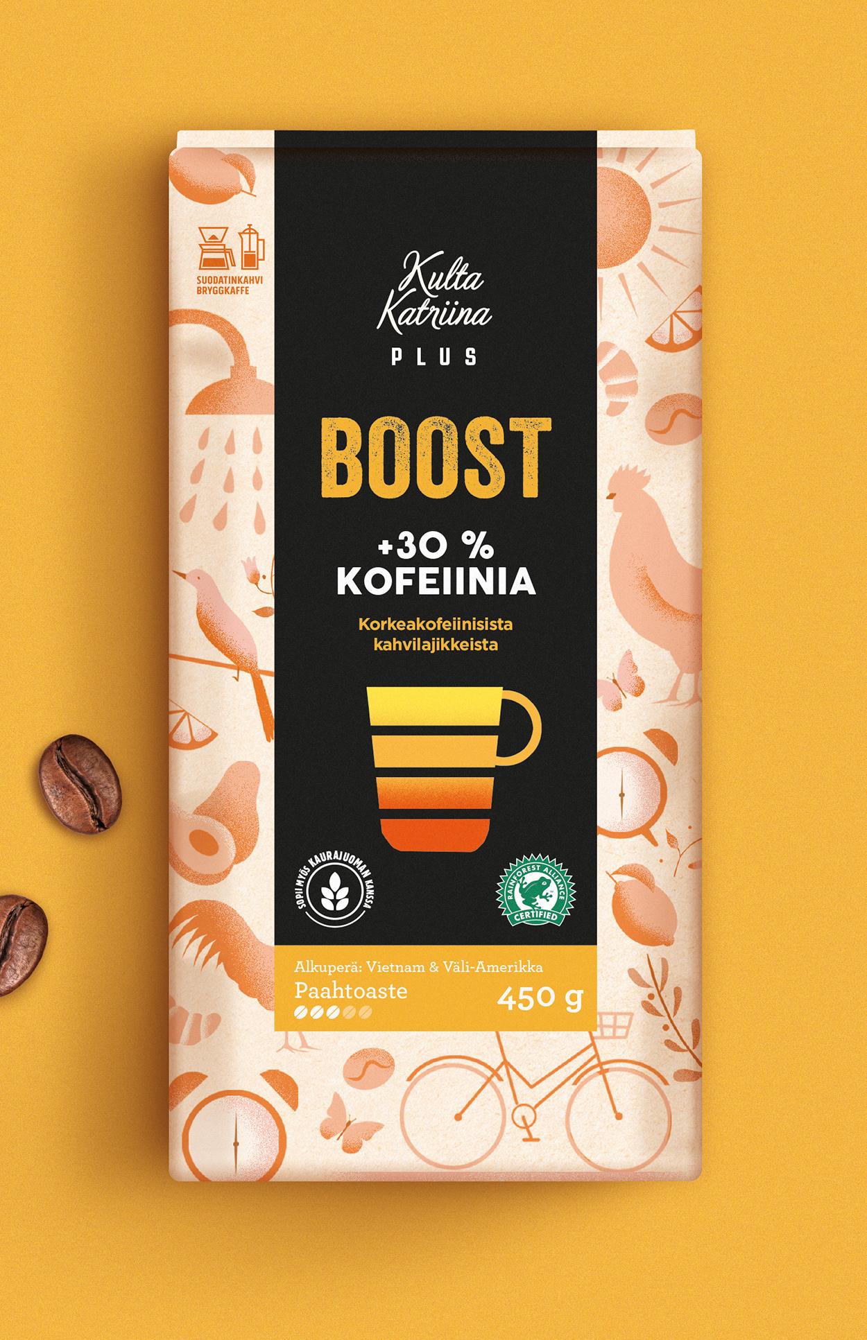 2种包装,不同功能!Kulta Katriina咖啡包装