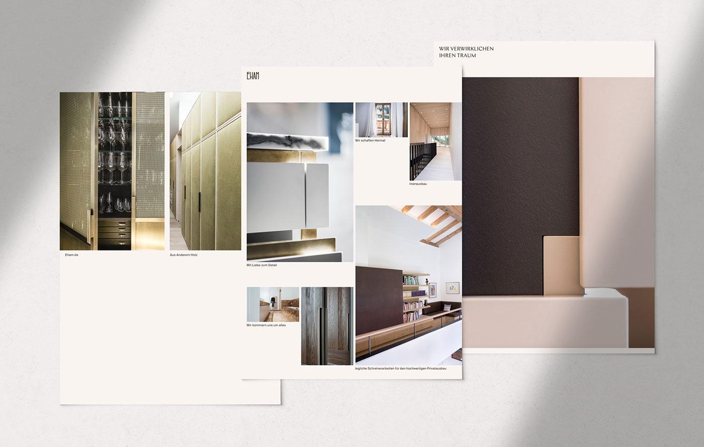 极简 留白!木工企业Eham品牌形象设计
