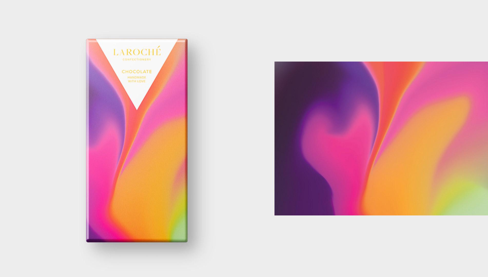 色彩纹理!Laroché充满活力的巧克力包装
