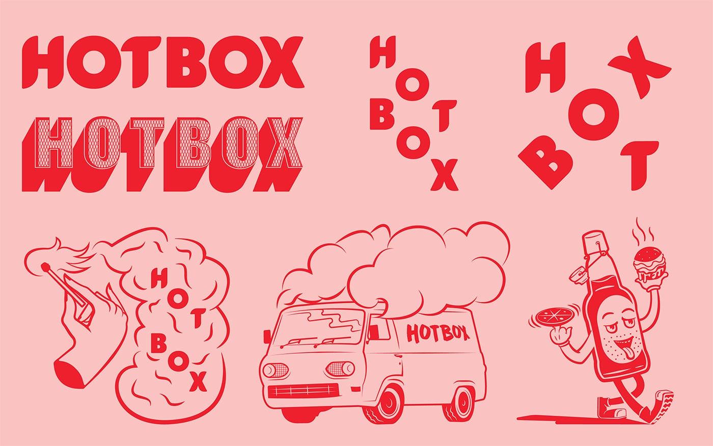 HotBox汉堡比萨餐厅品牌形象设计