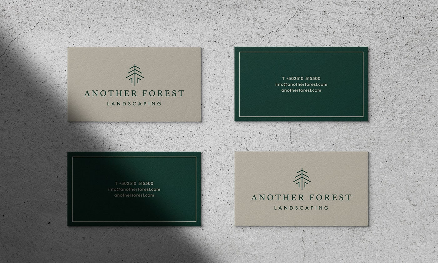 另一片森林!花园服务品牌Another Forest Landscaping视觉形象设计