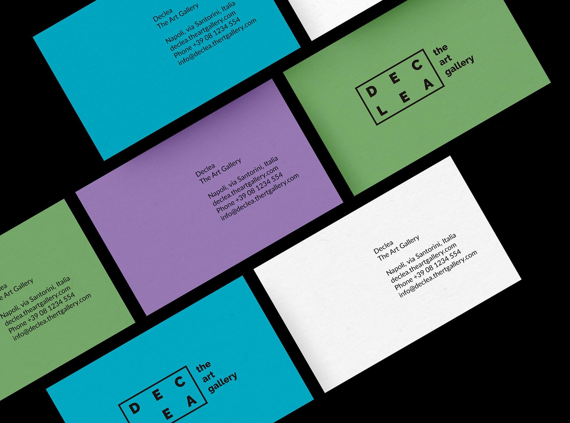 极简风与4种颜色!Declea画廊视觉识别设计