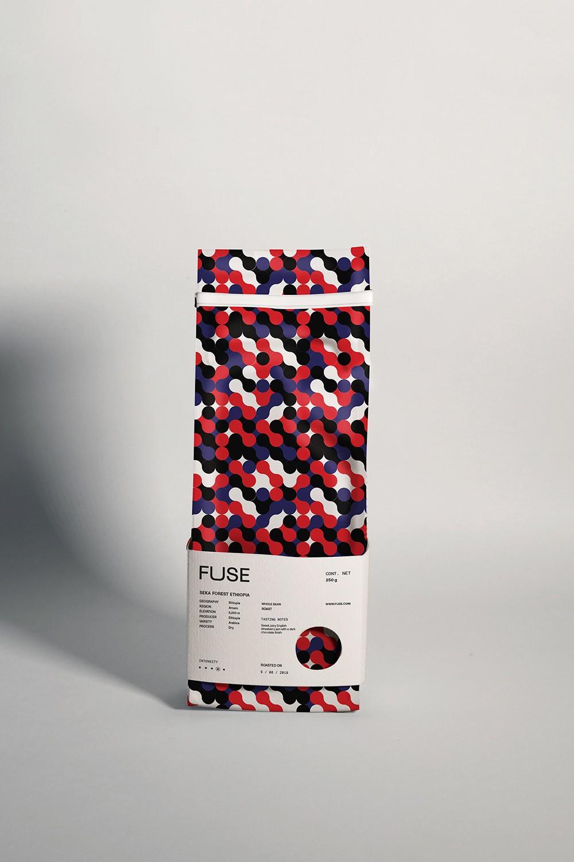 时尚红蓝圆点,FUSE咖啡品牌形象和包装澳门金沙真人