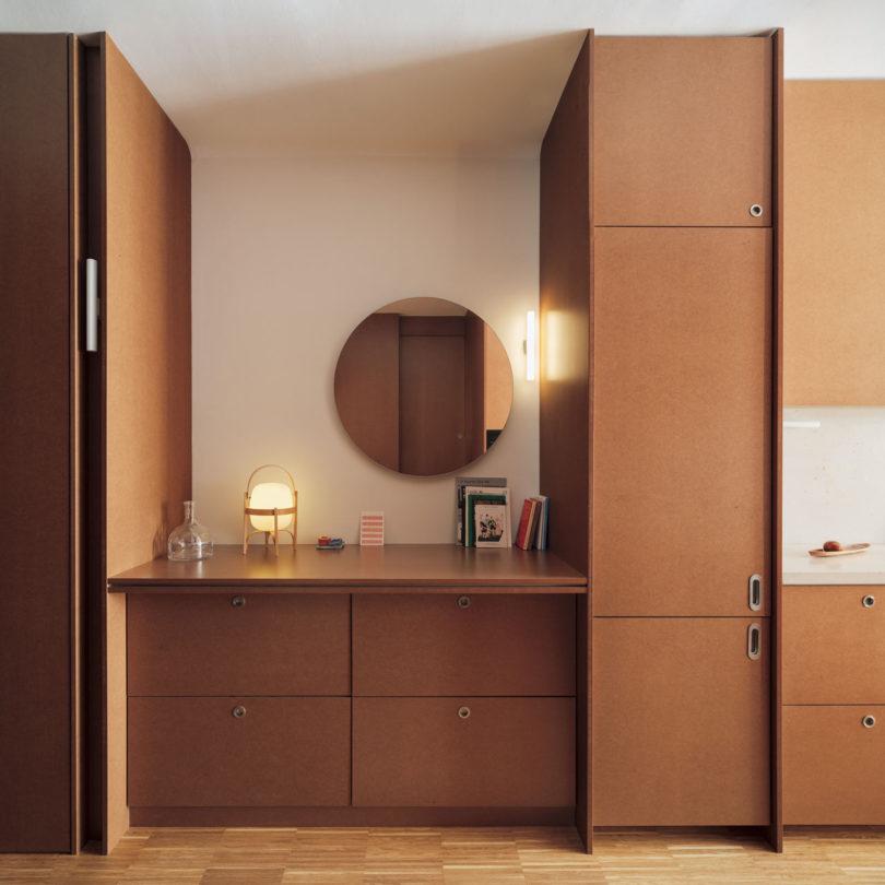 小空间的精布局!巴塞罗那70平公寓设计