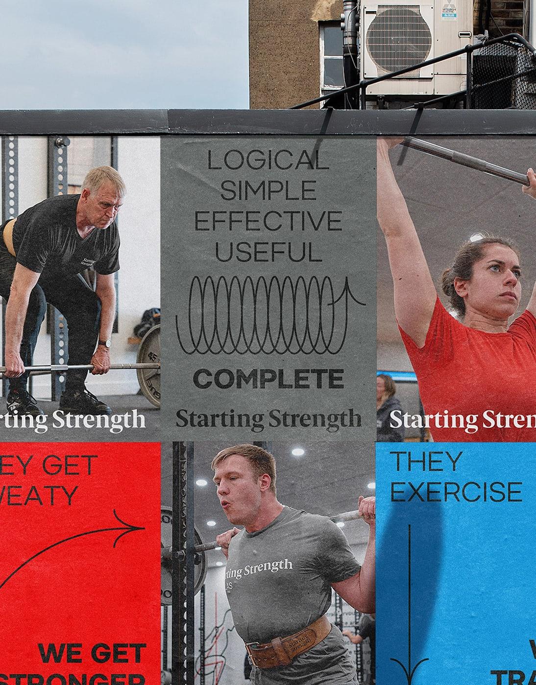 力量训练计划Starting Strength品牌形象设计