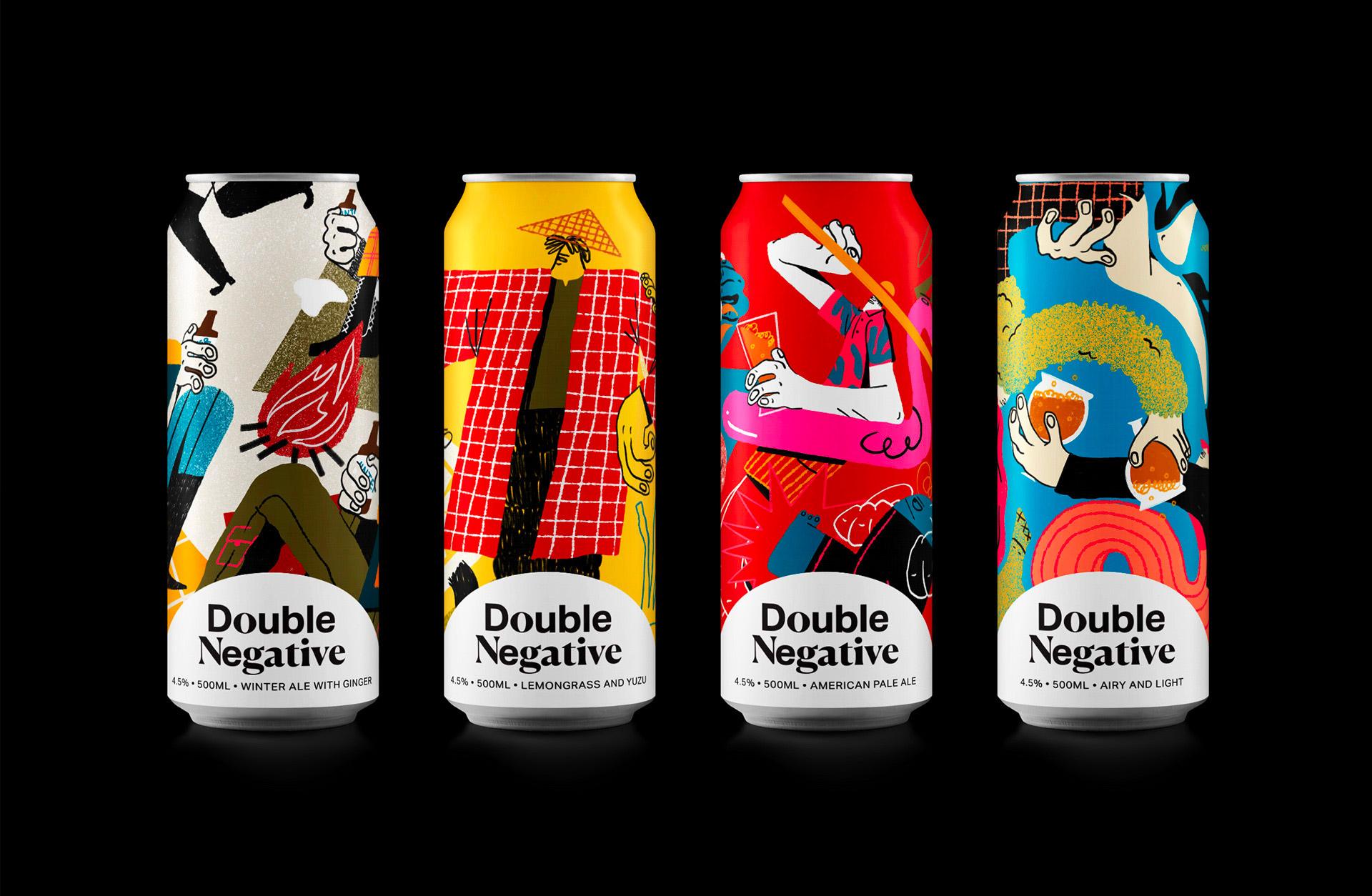 与众不同!Double Negative啤酒品牌视觉设计