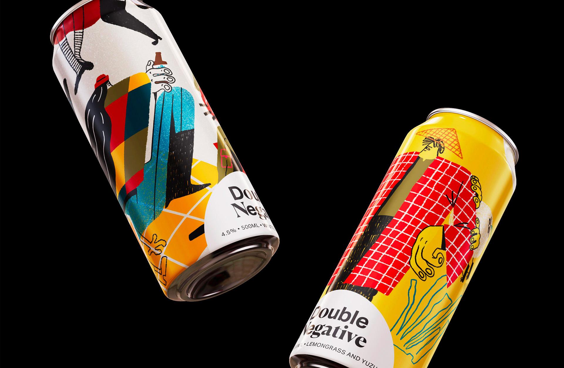 与众不同!Double Negative啤酒品牌视觉澳门金沙真人