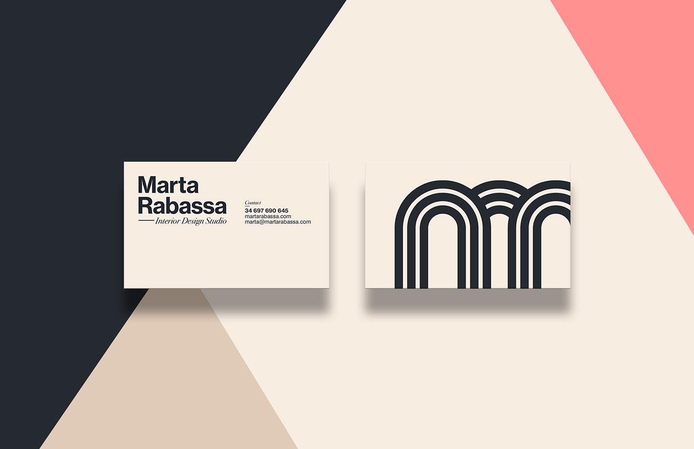 胜利拱门!室内设计工作室Marta Rabassa品牌形象设计