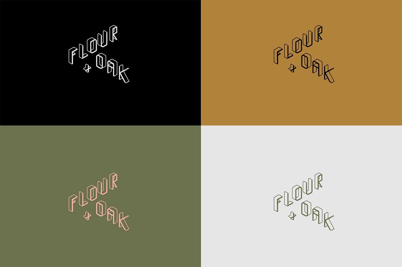 精致时尚!Flour&Oak餐厅品牌形象设计