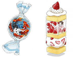 食物带来的灵感!日本插画家Marumichi超现实主义插画作品