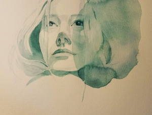 Katherine Reznichenko喷溅水彩画作品
