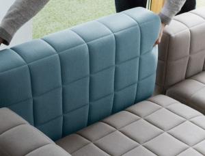 BIG家具设计:自由翻转组装的Voxel模块化沙发