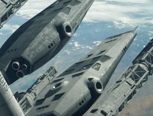 太空飞船与遥远的外星: Paul Chadeisson科幻CG作品