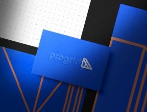 Progrid轻钢框架建设公司品牌VI设计