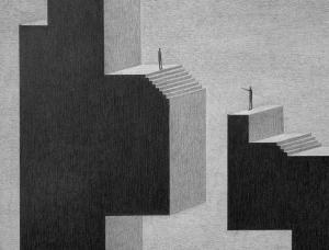 神秘氛围!James Lipnickas黑白插画作品